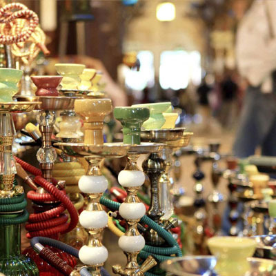 Shisha Souvenirs in the Souk